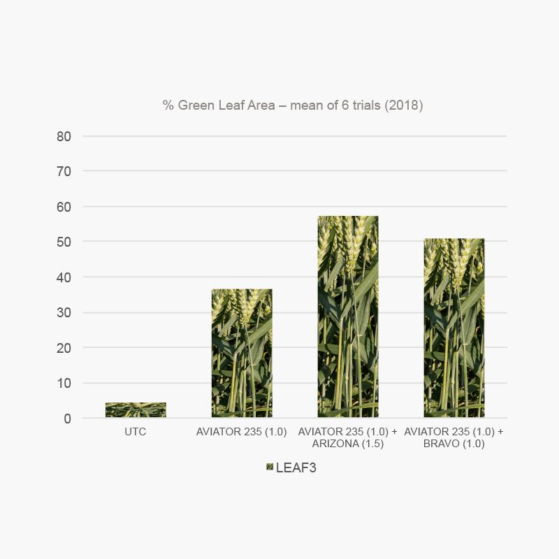 Folpet enhances green leaf area in septoria trials